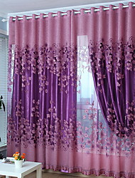 cheap -Grommet Top Double Pleat Pencil Pleat Curtain Modern Geometric Living Room Polyester Blend Material Sheer Curtains Shades Home Decoration