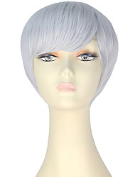 cheap -Synthetic Hair Wigs Straight Capless Carnival Wig Halloween Wig Party Wig Lolita Wig Natural Wigs Cosplay Wig Short Gray
