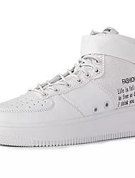 preiswerte -Unisex Schuhe Kunststoff Winter Herbst Stiefeletten Komfort Sneakers Booties / Stiefeletten Schnalle für Sportlich Normal Weiß Schwarz Rot