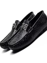 Недорогие -Для мужчин обувь Замша Весна Осень Кеды Для прогулок для Повседневные Белый Черный Зеленый
