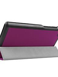 abordables -Estuche de 7 pulgadas en color liso de piel PU para lenovo tab 7 essential (2017)