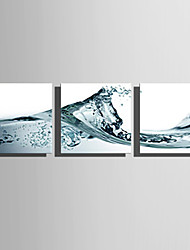 cheap -Stretched Canvas Print Art Modern Wave Set of 3
