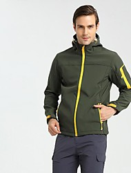 cheap -Men's Hiking Fleece Jacket Outdoor Winter Keep Warm Fast Dry Wearable Top Single Slider Camping / Hiking Casual Running