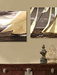 abordables -Toile Moderne, Deux Panneaux Toile Carré Imprimé Décoration murale Décoration d'intérieur