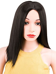 cheap -Synthetic Wig Straight Bob Haircut Middle Part Black Women's Capless Natural Wigs Short Synthetic Hair