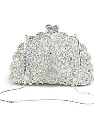 Недорогие -жен. Мешки Металл Вечерняя сумочка Кристаллы для Для праздника / вечеринки Все сезоны Белый