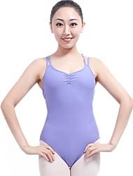 abordables -Ballet justaucorps Femme Utilisation Nylon Volants Sans Manches Taille moyenne Collant / Combinaison