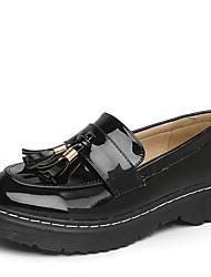 abordables -Femme Chaussures Polyuréthane Printemps Automne Moccasin Mocassins et Chaussons+D6148 Talon Bas Bout rond pour Bureau et carrière Noir
