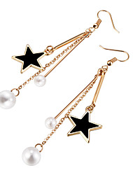 cheap -Women's Drop Earrings Imitation Pearl Fashion Alloy Star Jewelry Party