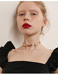 baratos -Mulheres Estrela Forma Fashion Coreano Gargantilhas , Liga Gargantilhas Para Noite Encontro Jóias de fantasia