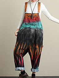 economico -Per donna Semplice Tuta da lavoro Pantaloni - Monocolore