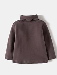 preiswerte -Mädchen T-Shirt Solide Kaschmir Baumwolle Leinen Frühling Kurzarm Retro Schwarz Rosa Grau Khaki