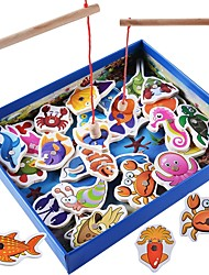 cheap -Board Game Toys Animals Magnetic Parent-Child Interaction Square Wooden Classic Theme Classic & Timeless Classic Pieces Gift