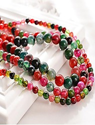 cheap -DIY Jewelry 48 pcs Beads Synthetic Gemstones Rainbow Round Bead 1 DIY Bracelet Necklace