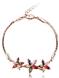 cheap -Women's Synthetic Ruby Zircon Bohemian Flower Bracelet - Classic Bohemian Sweet Circle Rainbow Bracelet For Birthday Valentine