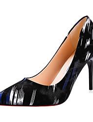 Недорогие -Жен. Обувь Полиуретан Весна Осень Удобная обувь Обувь на каблуках На шпильке для на открытом воздухе Синий Розовый