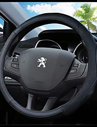 abordables -Fundas para volante piel genuina 38cm Azul Piscina / Negro / Negro / Rojo For Peugeot 307 / 301