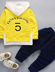 abordables -Ensemble de Vêtements Garçon Imprimé Polyester Automne Noir Orange Rouge Jaune Bleu royal