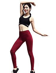preiswerte -Damen Laufhosen Rasche Trocknung Atmungsaktivität Super Schmal Unten Cheerleader-Kostüme Laufen Nylon Weiß Schwarz Orange Burgund S M L XL