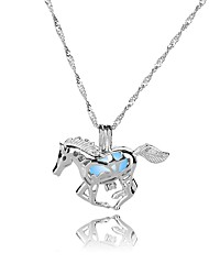 cheap -Women's All Shape Illuminated Colorful Fashion Pendant Necklace , Silver Plated Luminous Stone Alloy Pendant Necklace Gift New Year