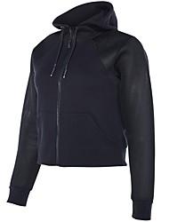 abordables -Femme Tee-shirt de Course Manches Longues Séchage rapide Shirt pour Course / Running Coton Noir / Bleu / Gris L / XL / XXL