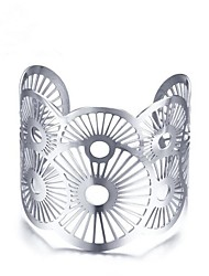 abordables -Mujer Geométrico Pulseras de puño - Acero inoxidable Vintage Pulseras y Brazaletes Plata Para Regalo / Diario