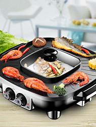 preiswerte -Elektrischer Grillplatz Multifunktion Japanischer Edelstahl Thermo-Kocher 220V Küchengerät