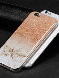 billiga -fodral Till Apple iPhone X / iPhone 8 IMD Skal Marmor Mjukt TPU för iPhone X / iPhone 8 Plus / iPhone 8