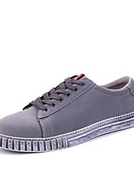 baratos -Homens sapatos Tecido Todas as Estações Conforto Tênis para Casual Ao ar livre Preto Cinzento Azul Real