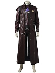 economico -Costumi da supereroi Cosplay Costumi Cosplay Costume Cosplay da film Grigio e nero Top Cappotto Canottiera Pantaloni Cintura Altri