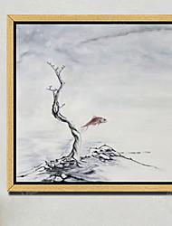 economico -Floreale/Botanical Ad olio Decorazioni da parete,Legno Materiale con cornice For Decorazioni per la casa Cornice Sala da pranzo