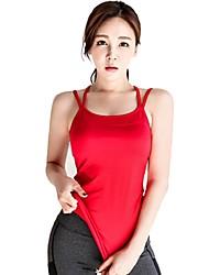 baratos -Mulheres Sem costas / Com tiras Regata de Corrida - Vermelho Esportes Malha Íntima Roupas Esportivas Respirabilidade Com Stretch