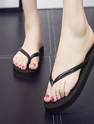 cheap -Women's Shoes PU Summer Comfort Slippers & Flip-Flops Flat Heel Round Toe for Casual Gold Black Gray