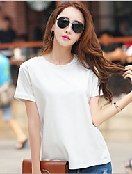 cheap -Women's Cotton T-shirt,Solid