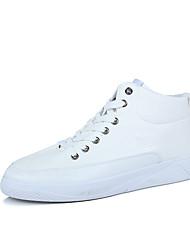 Недорогие -Черный Синий Зеленый Белый-Унисекс-Повседневный-Полиуретан-На плоской подошве-Удобная обувь-Кеды