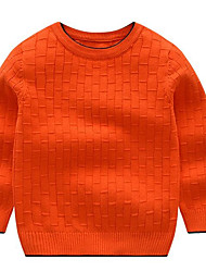 cheap -Boys' Solid Sweater & Cardigan,Polyester Winter Fall Long Sleeve Royal Blue Yellow Gray Red Orange