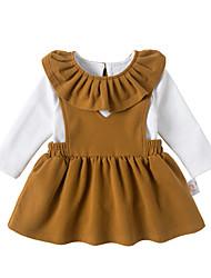 abordables -Bébé Fille Décontracté Couleur Pleine Manches Courtes Coton / Fibre de bambou Ensemble de Vêtements
