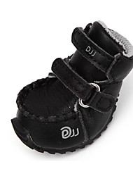 cheap -Dog Boots / Shoes Casual / Daily Solid Colored White Black For Pets