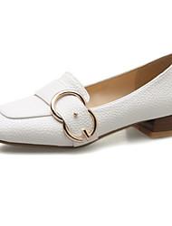 baratos -Mulheres Sapatos Couro Ecológico Primavera / Verão Conforto / Inovador Mocassins e Slip-Ons Salto Baixo Dedo Apontado / Ponta quadrada