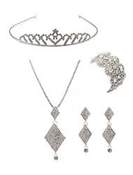 cheap -Women's Rhinestone Imitation Diamond Fox Jewelry Set Body Jewelry / 1 Necklace / 1 Bracelet - Fashion / European White Tiaras / Bridal