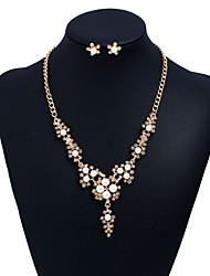 economico -Per donna Orecchini a bottone Collane con ciondolo Perle finte Diamante sintetico Elegant Dolce Di tendenza Matrimonio Feste Perle finte