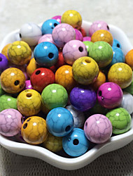 cheap -DIY Jewelry 100 pcs Beads Acrylic Rainbow Round Bead 1 cm DIY Necklace Bracelet