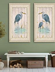 baratos -Paisagem Animais Ilustração Arte de Parede,PVC Material com frame For Decoração para casa Arte Emoldurada Sala de Estar Quarto Cozinha