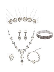 cheap -Women's Hair Sticks Bridal Jewelry Sets Rhinestone Imitation Pearl Imitation Diamond Alloy Flower Fashion European Wedding Party Body