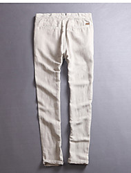 cheap -Men's Ordinary Linen Chinos Pants - Solid Colored
