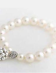cheap -Women's Pearl Strand Bracelet - Imitation Pearl Fashion Bracelet White For Daily