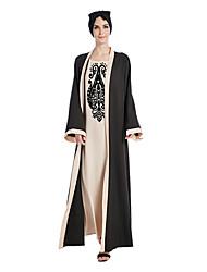 Недорогие -Арабское платье Абайя Платье Кафтан Жен. Мода Фестиваль / праздник Инвентарь Бежевый / Лиловый Рисунок