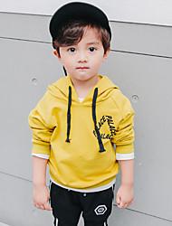 cheap -Boys' Solid Hoodie & Sweatshirt, Cotton Spring All Seasons Long Sleeves Simple Black Yellow
