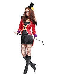 cheap -Ringmaster Circus Dress Cosplay Costume Party Costume Women's Halloween Carnival Festival / Holiday Halloween Costumes Black Color Block
