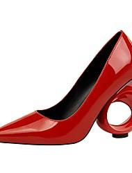 Недорогие -Жен. Обувь Дерматин Весна Осень Удобная обувь Обувь на каблуках Высокий каблук для Для вечеринки / ужина Белый Черный Красный Розовый